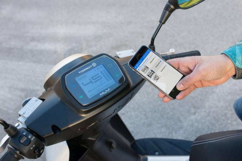 Torrot Muvi Elektroroller Smartphone App